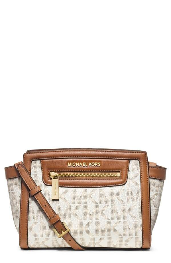 Michael Kors \\\'Medium Selma\\\' Crossobody Bag Vanilla