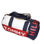 Tommy Hilfiger Mini Logo Duffle Bag Navy White