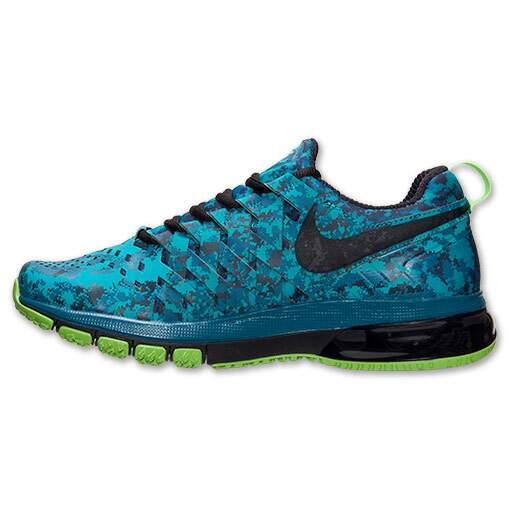 Tênis Nike Masculino Fingertrap Air Max Training Shoes Azul, Preto e Verde - Tribe Green/Black/Obsidian/Electric
