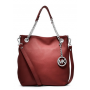 Michael Kors Jet Set Chain - Medium Leather Convertible Shoulder Scarlet