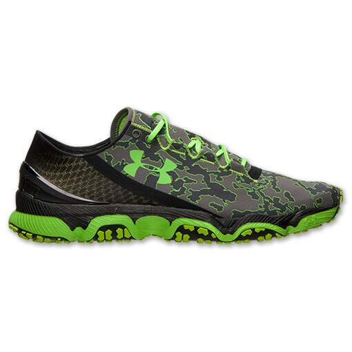 Tênis Under Armour Masculino SpeedForm XC Trail Cinza com Verde - Dark Grey/Gecko Green