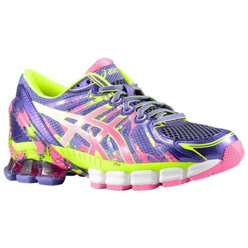 Asics Sendai 2 Feminino Roxo, Rosa e Amarelo - Purple/Hot Pink/Flash Yellow