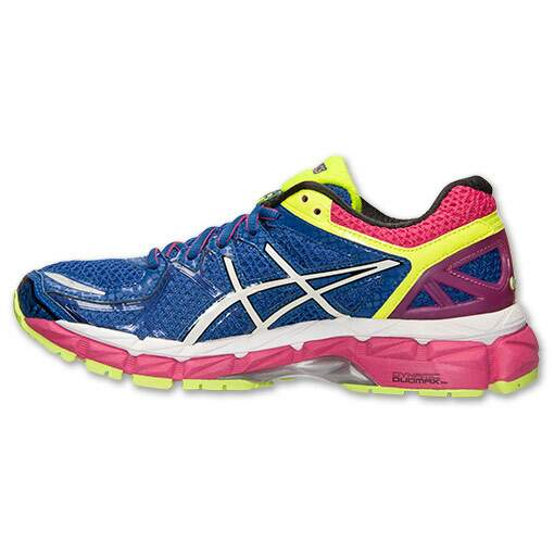 Asics Kayano 21 Feminino Azul, Amarelo e Rosa - Blue/Flash Yellow/Berry