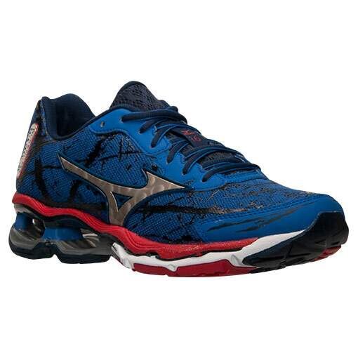 Mizuno Wave Creation 16 Masculino Azul, Preto e Vermelho - Turkish Sea/Silver/Chinese Red