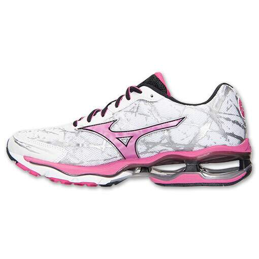 Mizuno Wave Creation 16 Feminino Branco, Rosa e Preto - White/Pink/Black