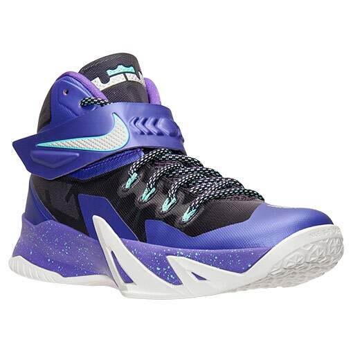 Tênis Nike Masculino Zoom Soldier VIII 8 Preto com Roxo - Court Purple/Metallic Silver/Hyper Grape