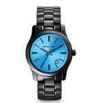 Relógio Michael Kors Runway Blue And Onyx Stainless Steel Preto com Azul
