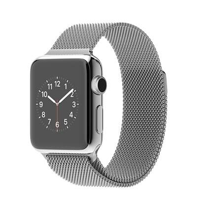 Relógio Apple Watch 38mm Stainless Steel Case with Milanese Loop