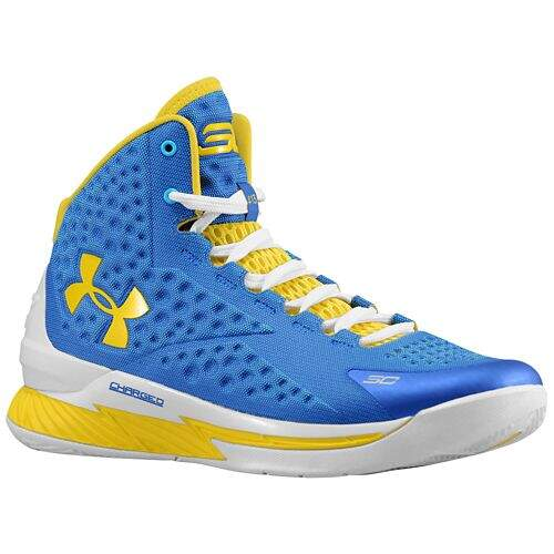 Tênis Under Armour Masculino CHARGED FOAM CURRY 1 Azul, Amarelo e Branco - Royal/Taxi