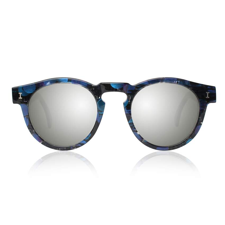 Óculos Sol Illesteva LEONARD ECO IRIDESCENT WITH SILVER MIRRORED LENSES
