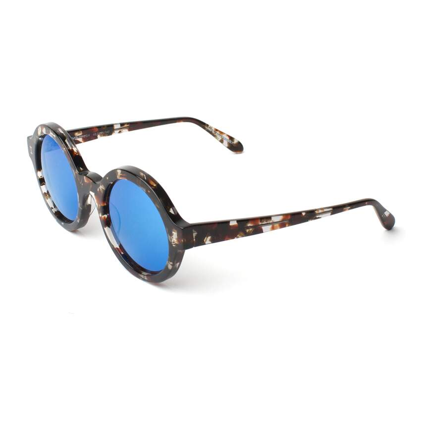 Óculos Sol Illesteva FRIEDA ECO CLEAR MARBLE WITH BLUE MIRRORED LENSES