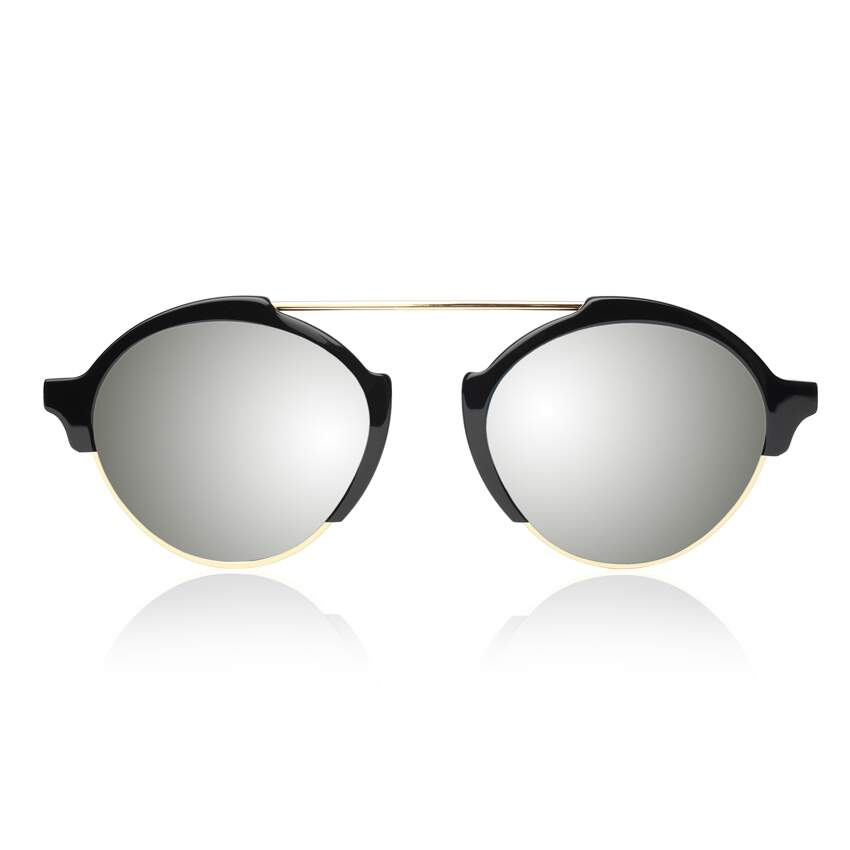 Óculos Sol illesteva MILAN III BLACK WITH SILVER MIRRORED LENSES