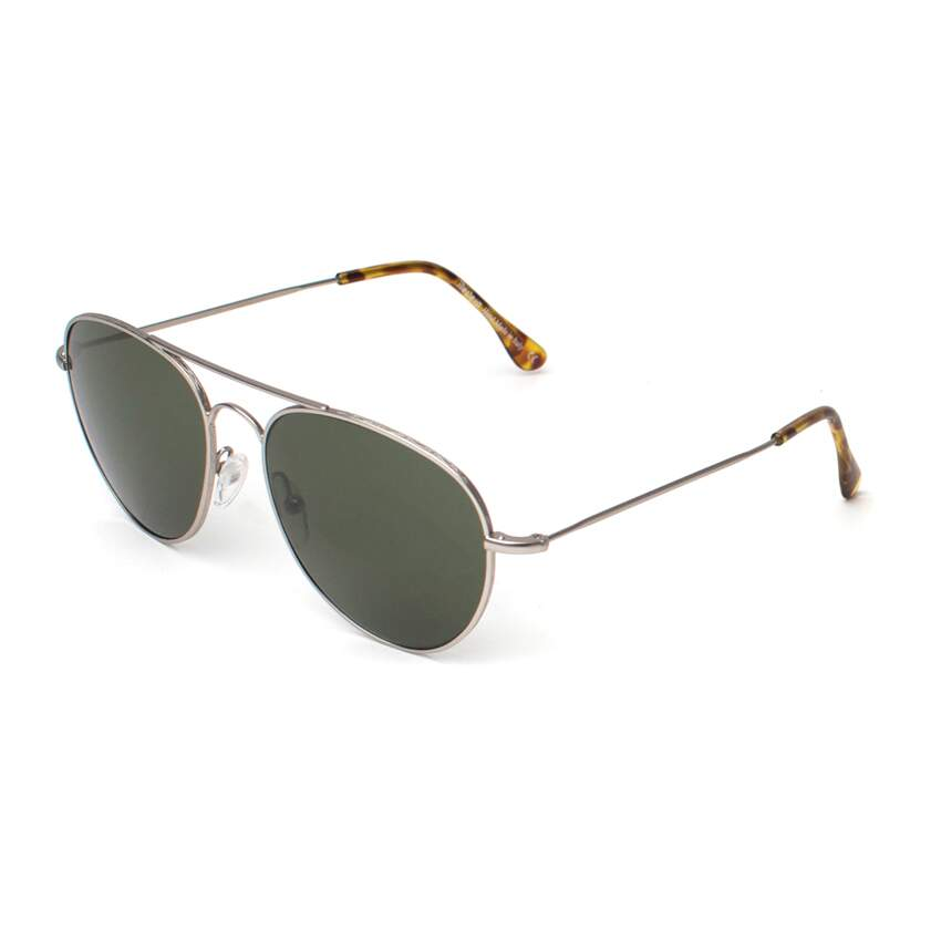 Óculos Sol illesteva F143 AVIATOR MATTE SILVER WITH OLIVE LENSES