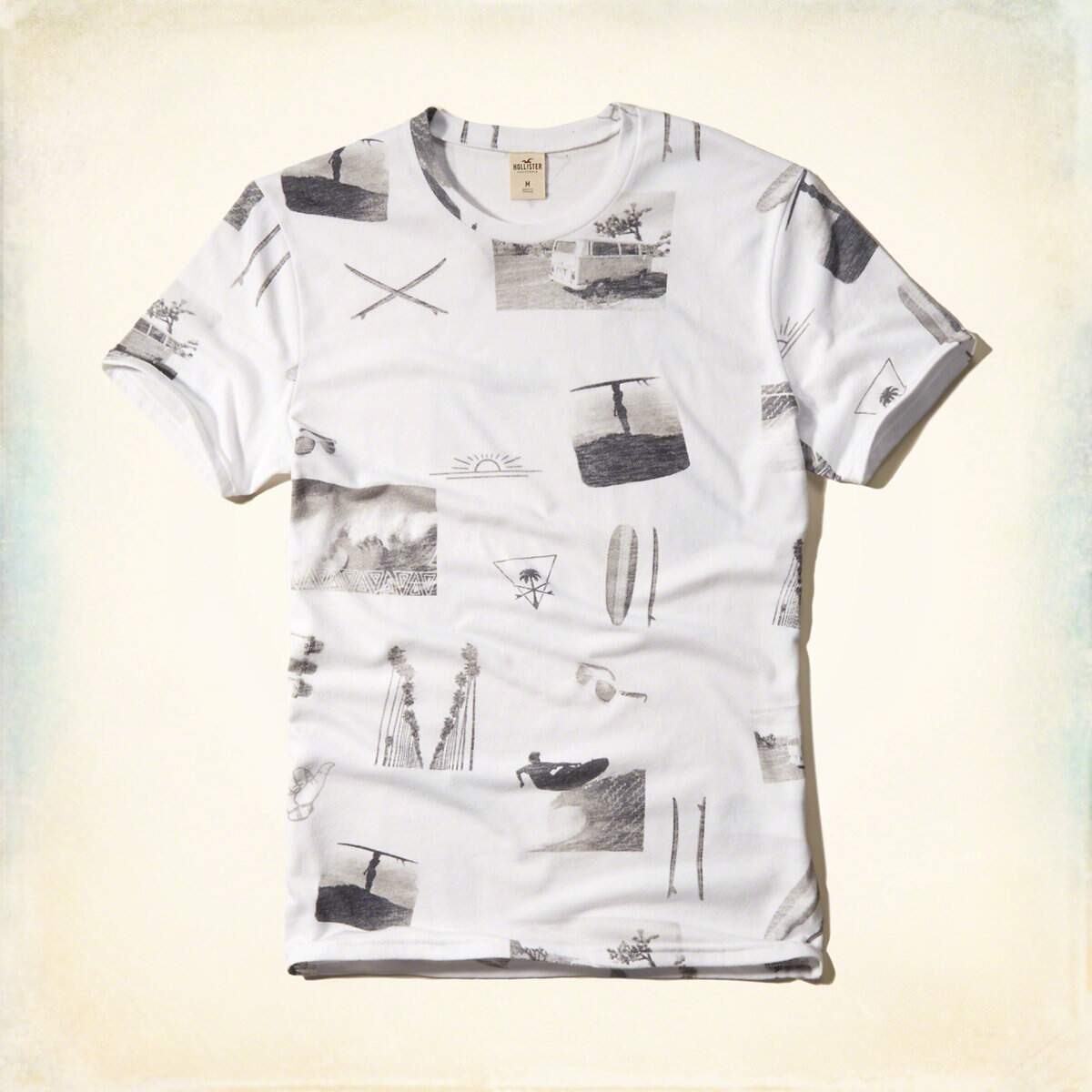 Camisa Hollister Photoreal Print Graphic Tee - Branca