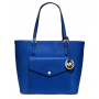Bolsa Michael Kors Jet Set - Large\' Saffiano Leather Snap Pocket Tote - Azul
