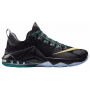 Tênis Nike Lebron XII Low Azul e Cinza Masculino - Black/Anthracite/Radiant Emerald