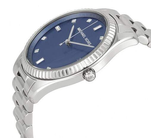Relógio Michael Kors Blake Blue Dial Stainless Steel Masculino