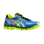 ASICS Kayano 20 Masculino Azul com Verde-Cobalt/Flash Yellow/Black