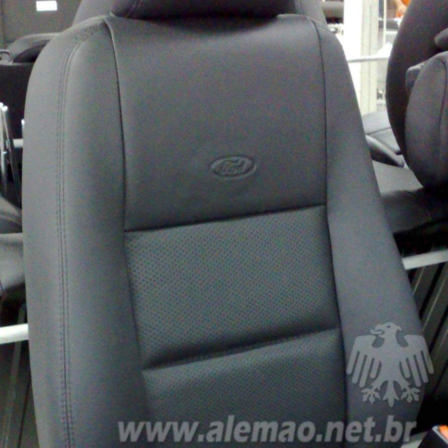 Kit Bancos em Couro - Ford FIESTA - 100% Couro
