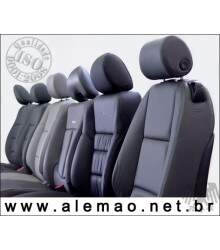 Kit Bancos em Couro - Fiat UNO MILLE 1998 a 2010 - 100% Couro