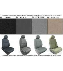 Kit Bancos em Couro - GM S-10 Cabine Simples - 100% Couro s10