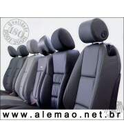 Kit Bancos em Couro - DODGE RAM Cabine Simples - Misto 70% Couro