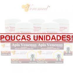 Apis Venenus Gel 15g - Kit com 5 unidades - Veromed