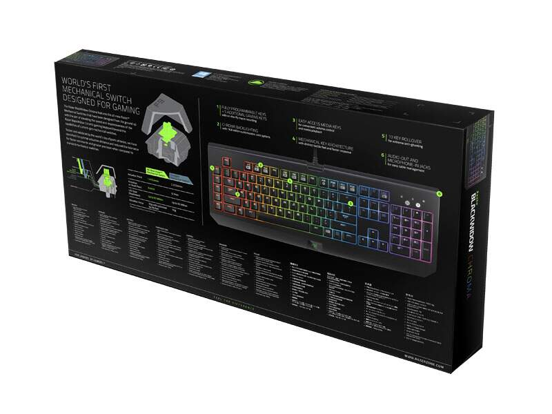 Teclado Razer BlackWidow CHROMA Stealth