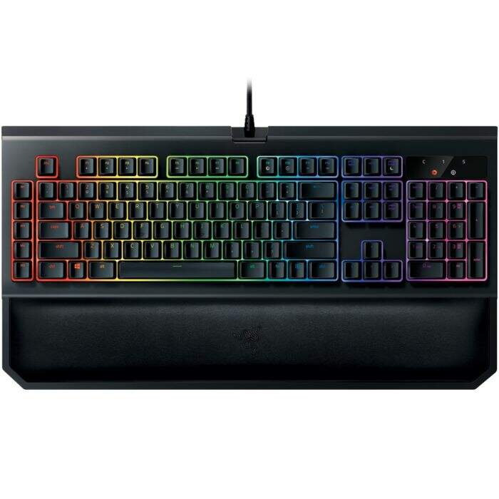 Teclado Razer BlackWidow CHROMA V2 Switch Green c/ Apoio Pulso