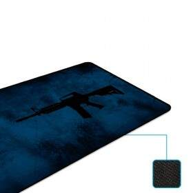 # BLACK NOVEMBER # MousePad Rise Gaming M4A1 Extended Bordas Costuradas - RG-MP-06-M4A