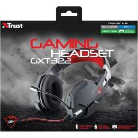 Fone Trust Gamer GXT 322 Dynamic PC Preto