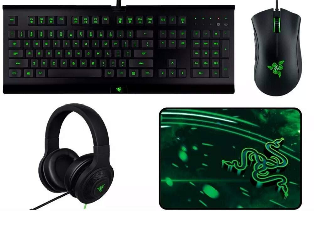 Combo Gamer Razer Holiday - Teclado, Mouse, Headset & Mousepad