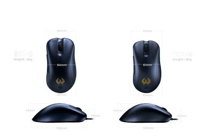 Mouse Zowie Gear EC2-B USB CS:GO Edition - EC2B-CSGO