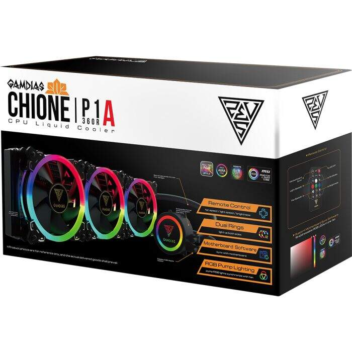 WaterCooler Gamdias Chione 360mm RGB - P1A-360R