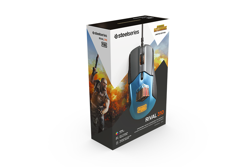 Mouse SteelSeries Rival 310 PUBG Edition TrueMove3 12000cpi - 62435