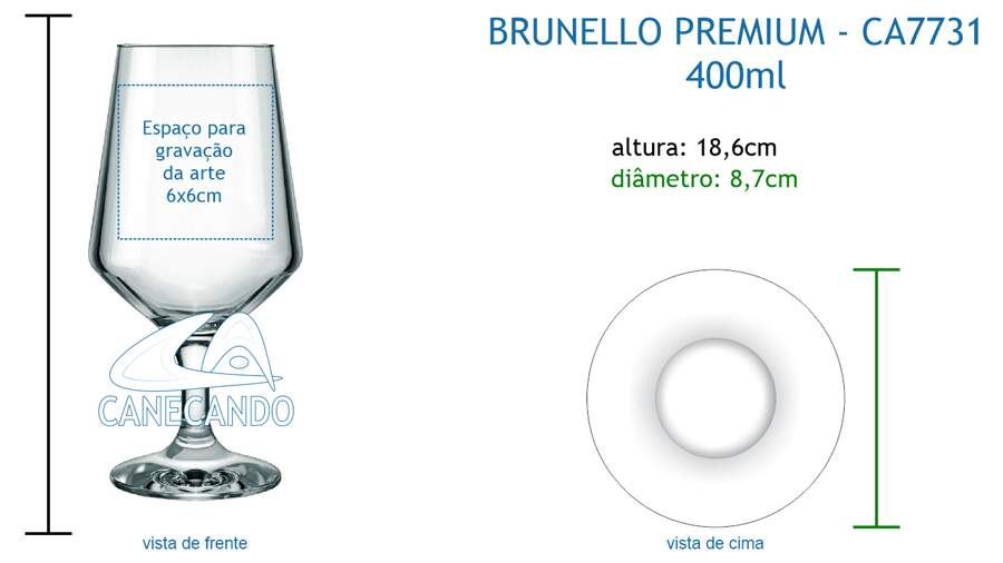 Taça Brunello 400ml - CA7731