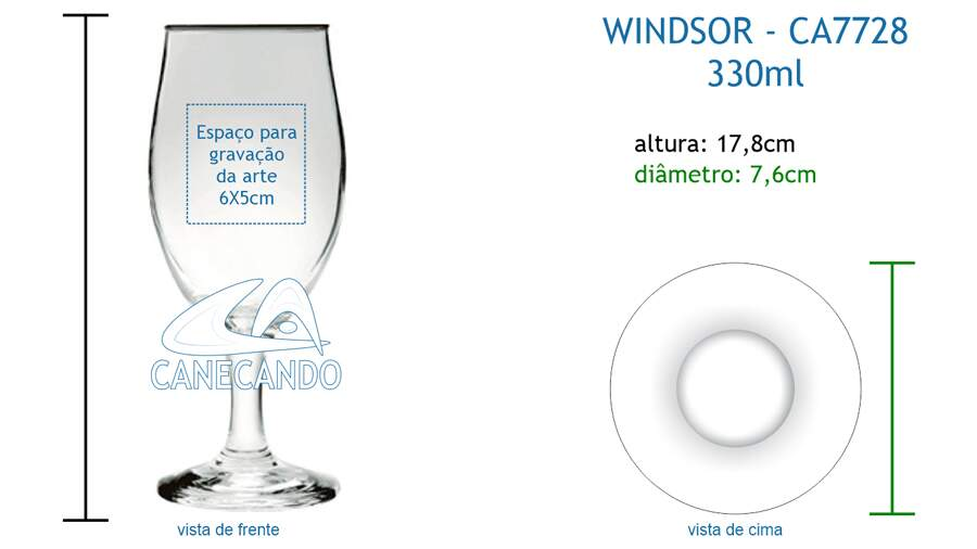 Taça Windsor 330ml - CA7728