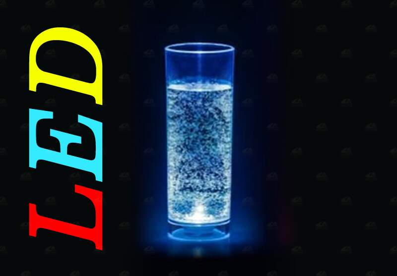 Copo long drink LED colorido com foto