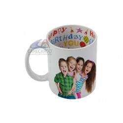 Caneca de porcelana interior Happy Birthday