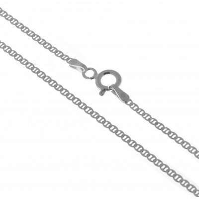 Corrente de Prata 925 - Groumet com travas Diamantada - 40cm - 2mm - CO021