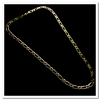 Corrente Folheada a Ouro 18k - Groumet 1x1 - 70cm - 5mm - 892
