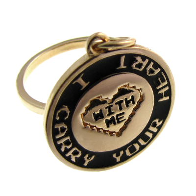 Conjunto Anel e Pingente - I Carry Your Heart - With Me - 1351