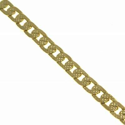 Corrente Folheada a Ouro - Groumet Recartilhada - 70cm - 4mm - CO008