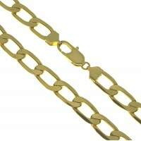 Corrente Folheado a ouro - Groumet alongada -60cm - 8,0mm - CO059