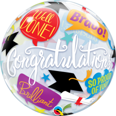 Balão Bubble Graduation Accolades 22 polegadas 56cm 55801 - 01 unidade - Qualatex