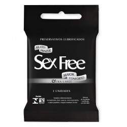 Preservativo Masculino Extra Large Com 3 Unid Sex Free