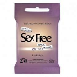 Preservativo Masculino Exciting Com 3 Unid Sex Free
