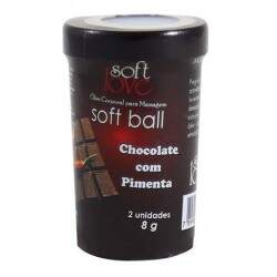 Soft Ball Beijável Chocolate com Pimenta 2 Unid