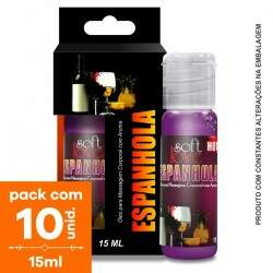 Pack com 10 Soft Love Gel Comestível HOT Espanhola15 ml