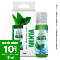 Pack com 10 Gel Comestível ICE Menta Ice  15ml